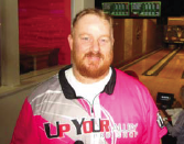 Charles Kenny set his series high of 876 with games of 300, 277 and 299. Photo by Fred Eisenhammer